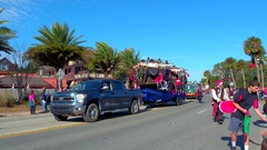 St Augustine Parade pirates Stock Footage
