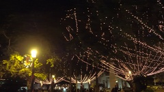 St augustine holiday lights Stock Footage