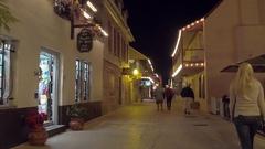 Historic St George Street Stock Footage