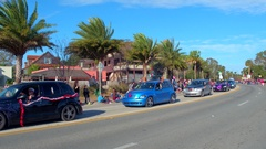 St Augustine Parade PT Cruiser Stock Footage