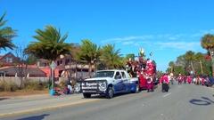 St Augustine Parade pirate ship 4k Stock Footage