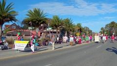 St Augustine Parade Neighborhood Association Stock Footage