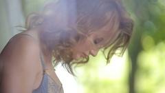 Female model posing in underwear Arkistovideo