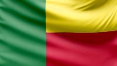 Realistic beautiful Benin flag looping Slow 4k resolution Stock Footage