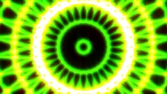 Ornate Green Light Burst Disco Neon VJ Abstract Motion Background Loop Close 2 Stock Footage