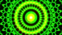 Ornate Green Light Burst Disco Neon VJ Abstract Motion Background Loop Close 1 Stock Footage