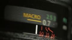 Focus dial ring lens from dslr macro 4k Stock Footage