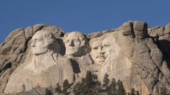 Time Lapse of Mount Rushmore Monument with Clouds Rolling By Stock Footage