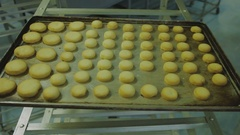 The finished cookies bun Stock Footage