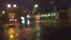 Crosswalk, a man under an umbrella Stock Footage