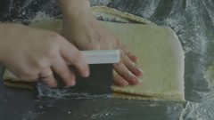 Trim pastry sandwich Stock Footage