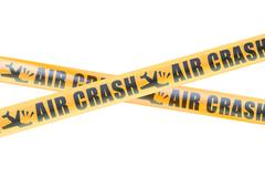 Air Crash Caution Barrier Tapes, 3D rendering Stock Illustration