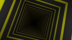Yellow Striped Infinity Box (24fps) Stock Footage