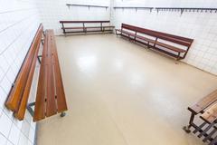 Dutch group dressing room on high school Kuvituskuvat