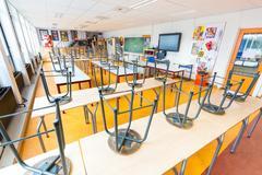 Empty crafts classroom on dutch high school Kuvituskuvat