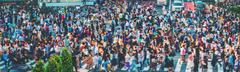 Crowds converge at Shibuya Crossing in Tokyo, Japan Kuvituskuvat