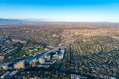 Aerial view of Los Angeles Stock Photos