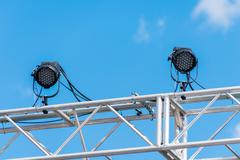Outdoor stage lights Stock Photos