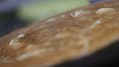 Frying pancake with currant confit Stock Footage