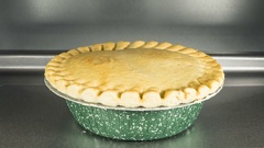 Pot Pie In Oven Time Lapse Stock Footage