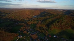 Aerial View of Maple Valley, West Virginia Stock Footage