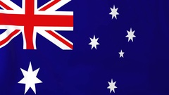 Flag of Australia waving in the wind, seemless loop animation Stock Footage