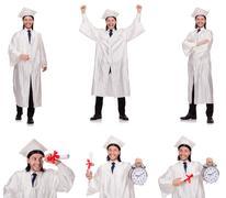 Young man ready for university graduation Kuvituskuvat