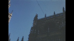 Vintage 16mm film, 1954 Spain Seville cathedral, sequence indoor and exterior Stock Footage