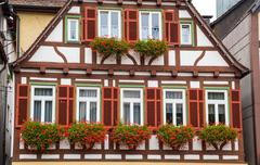 Autumn Calw city house in Germany Stock Photos