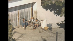 Vintage 16mm film, 1954 Morroco Tangiers streetlife bird eye, telephoto...  #2 Stock Footage