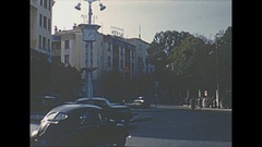 Vintage 16mm film, 1954 Morroco Tangier streetlife Stock Footage