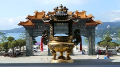 Wenwu Temple from inside to outside Stock Footage