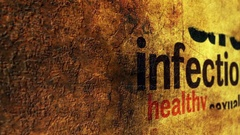 Infection concept on grunge background Stock Footage
