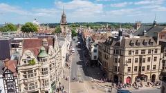 Oxford Skyline Stock Footage