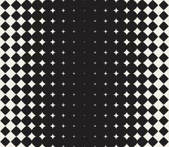 Vector Seamless Black and White Morphing Star Halftone Grid Gradient Pattern Stock Illustration