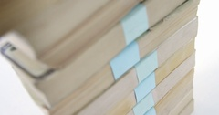 Close-up of stack of money Stock Footage