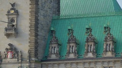 The small windows from the roof of the old castle in Hamburg in Irela.. Stock Footage