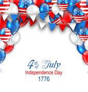 American Traditional Celebration Background for Independence Day Stock Illustration