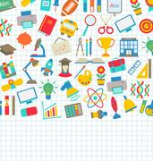 School Wallpaper with Place for Your Text Stock Illustration