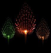 Festive firework three different color shape pine Piirros