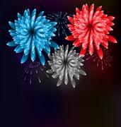 Illustration Firework Colorized in Flag US for Celebration Events Stock Illustration