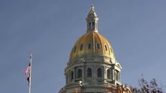 Denver Colorado Capital Building Government Dome Architecture Stock Footage