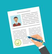 Human Resources Management, Approval Resume Stock Illustration