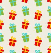 Seamless Pattern with Colorful Gift Boxes for Celebrate Stock Illustration