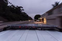 Timelapse of a police car light bar Stock Footage