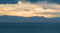 Strait of Gibraltar Sunset Timelapse Stock Footage