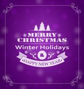 Merry Christmas Wishes, Typography Design Stock Illustration