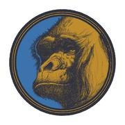 Gorilla Head Logo Mascot Emblem Stock Illustration