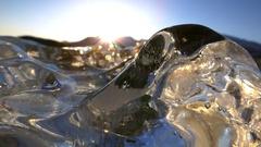 Land of Ice Sundown Timelapse HD Stock Footage