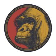 Gorilla Head Logo Mascot Emblem Piirros